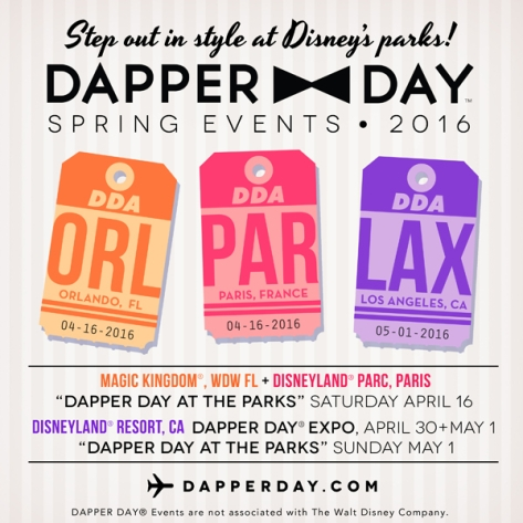 Dapper Days at the Disney Parks