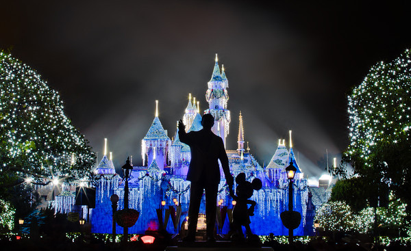 Sleeping Beauty Castle is so beautiful during the holidays!