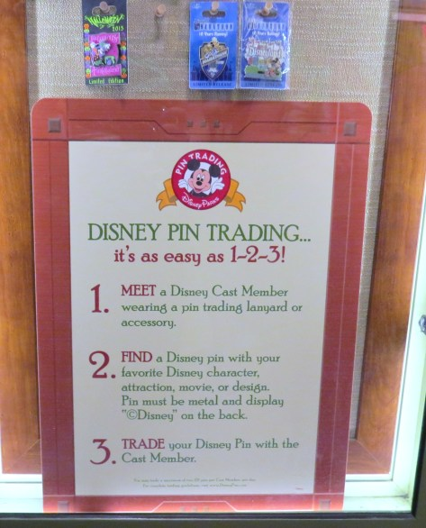 Disney pin trading rules.