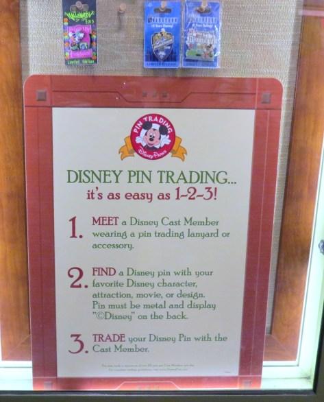 Disney pin trading rules.