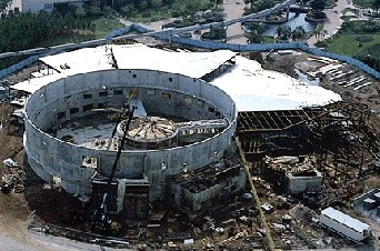 The Living Seas at Epcot under construction, 1981.