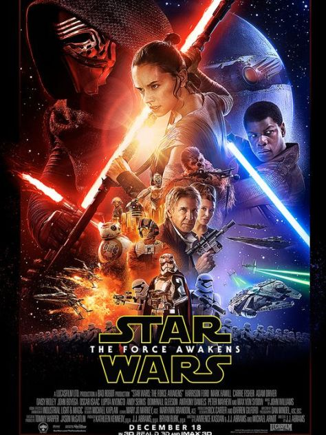 Star Wars - The Force Awakens poster, aka the