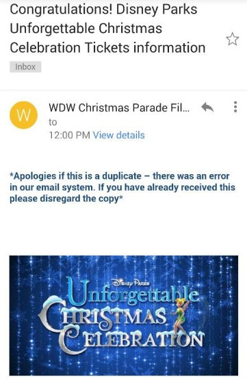 Cast members were notified yesterday if they got free tickets for special parade viewing area.