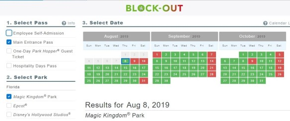 2019 Disney World Cast Member Blockout Dates | Elly and