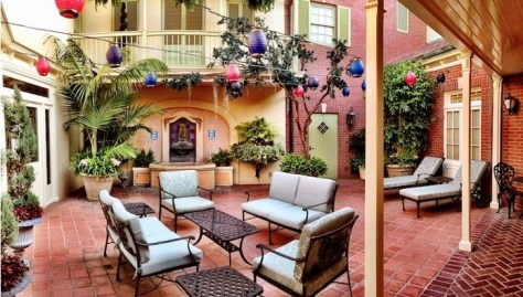 Patio area (photo credit: Oh My Disney)
