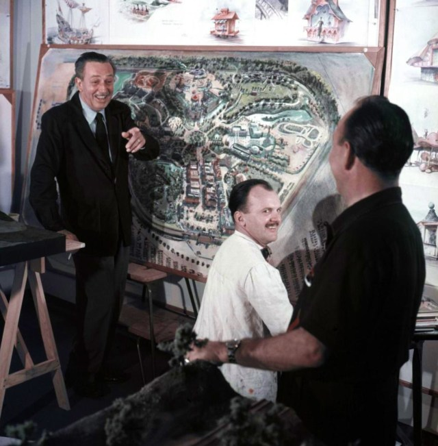 Throwback Thursday, 1950s: Walt with the Disneyland painting that's in the Children's Bedroom.