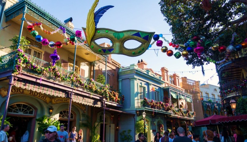 New Orleans Square Holiday Decorations Disneyland