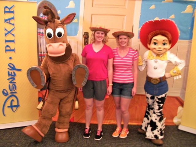 two girls Toy Story Andys Room