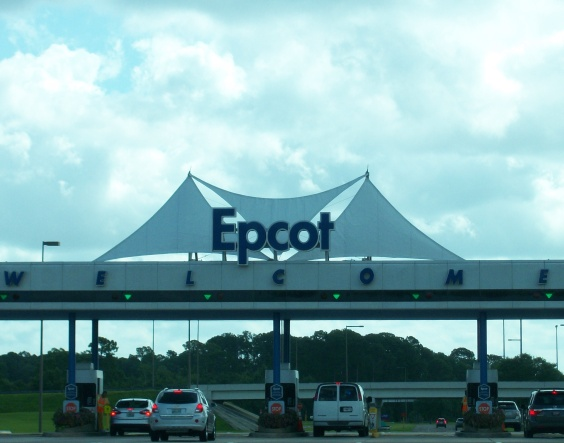 Epcot sign