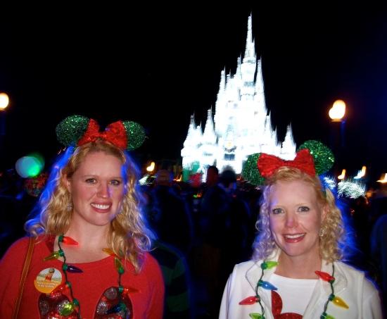 christmas cinderella lights castle