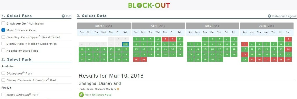 Disney pass blockout dates in Brisbane
