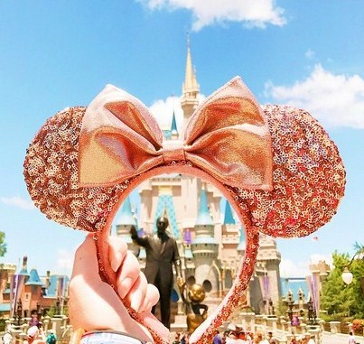 gold Mickey ears