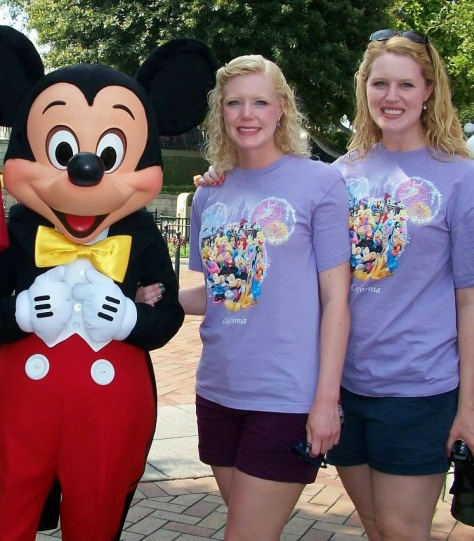 two disney sisters Mickey Mouse