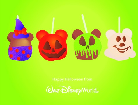 Mickey Halloween Apple Illustration