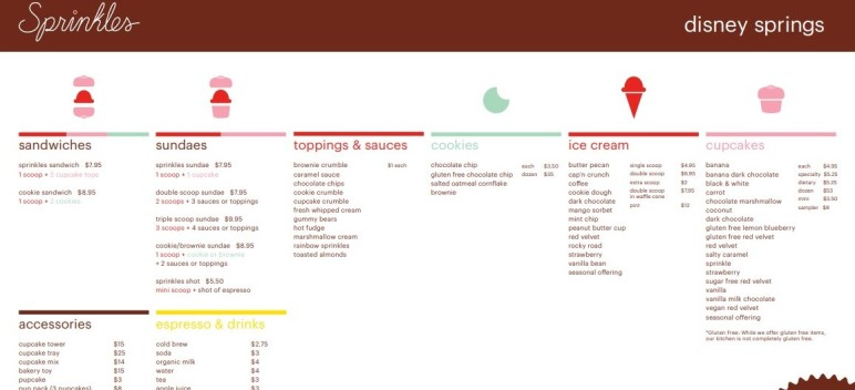 sprinkles menu