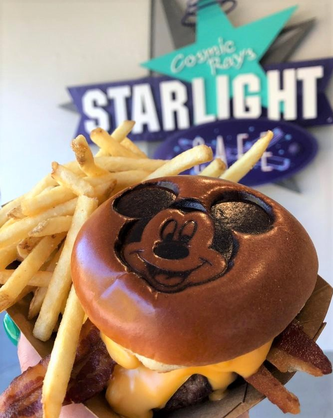 Mickey 90th cheeseburger