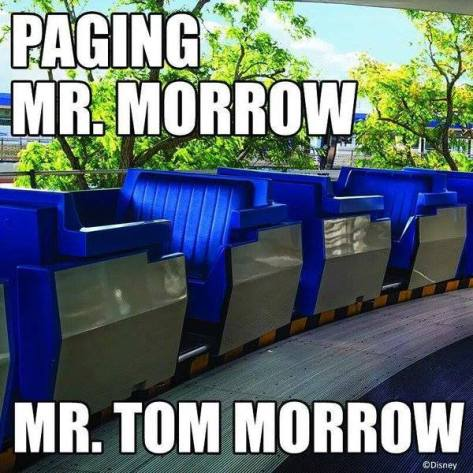 mr Morrow  Tomorrowland People Mover