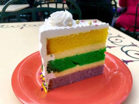 Mardi Gras Coconut Cake