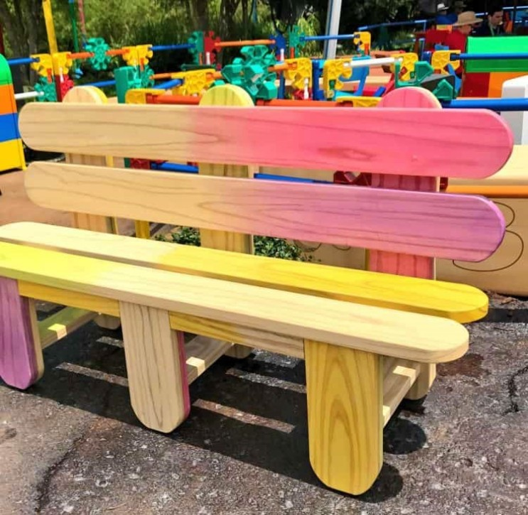 Popsicle Bench