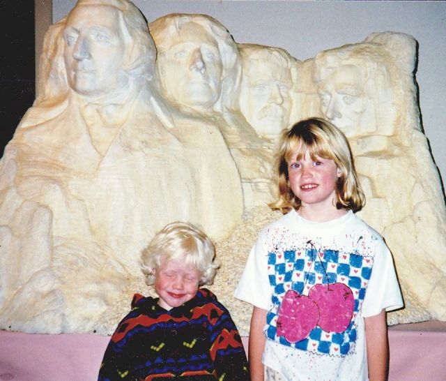 butter Mount Rushmore