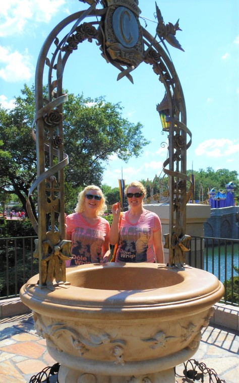 two disney sisters CInderella Wishing Well