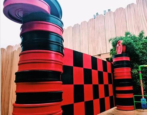 checkers wall