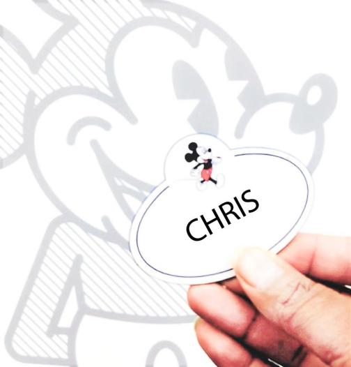Chris Name Tag