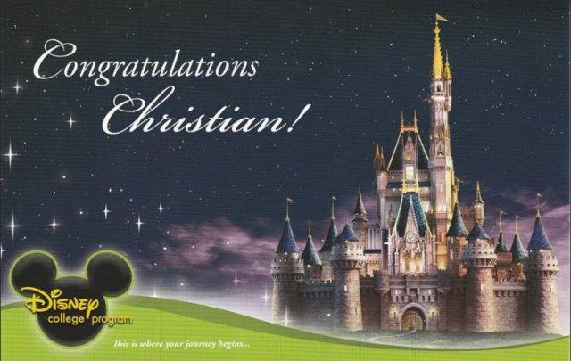 christian DCP accept congrat