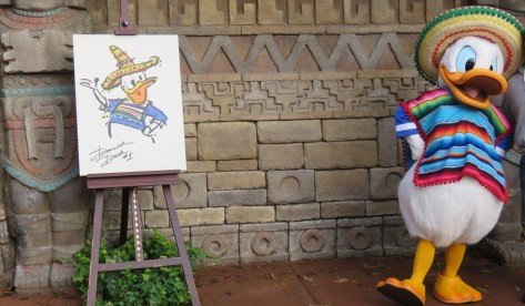 Donald Duck Epcot Mexico