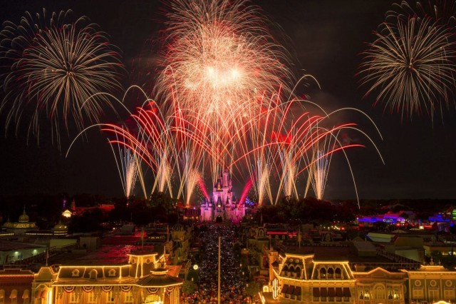 fireworks Magic Kingdom