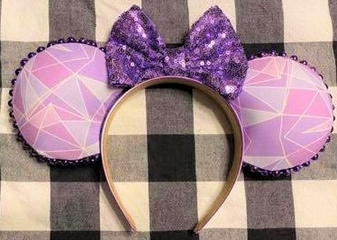 purple wall Minnie ears