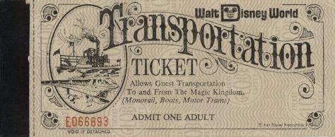 Sept 1972 Transportation ticket