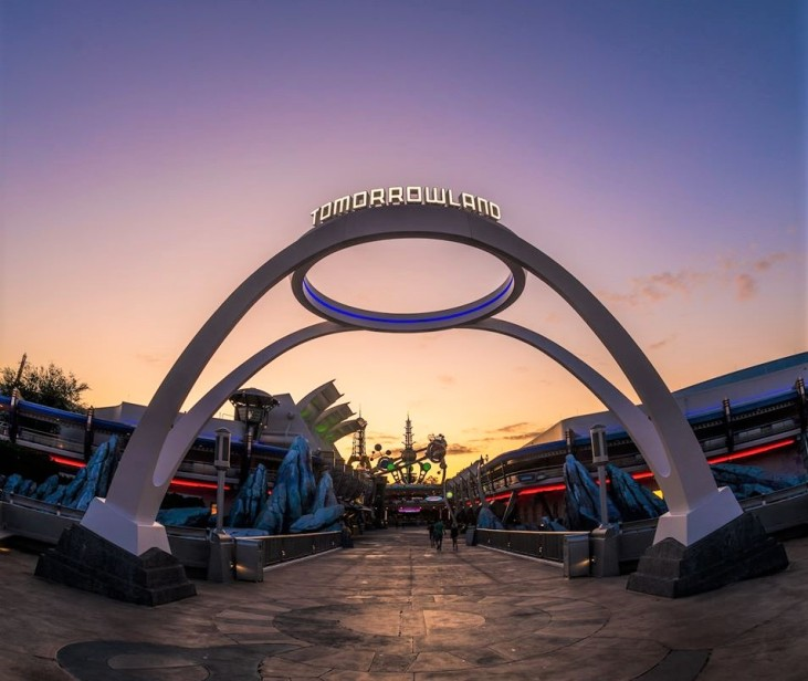 sunrise at Tomorrowland