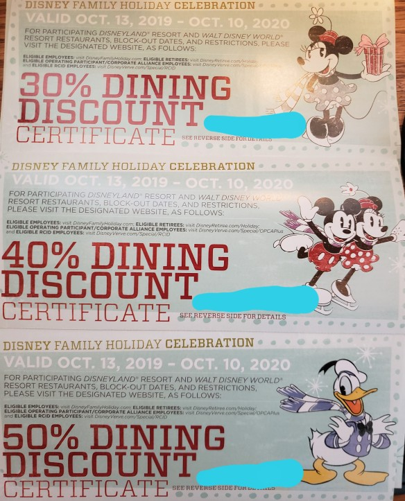 2020 Dining Discounts For Disney Cast Members Our Magical Disney Moments