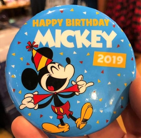 mickey celebration button