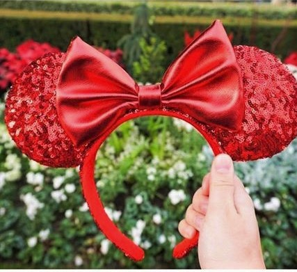 Christmas day minnie ears