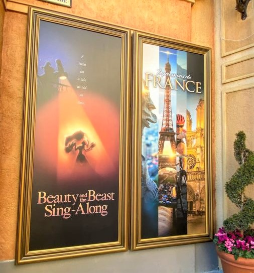 France-Pavilion-Beauty-and-the-Beast-Sing-Along-and-Impressions-de-France-Show-Signs-Epcot-507x625