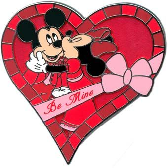 valentine disney pin