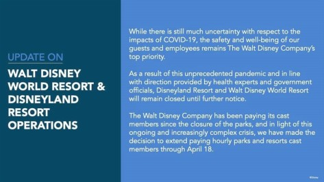 april 18 Disney World closed