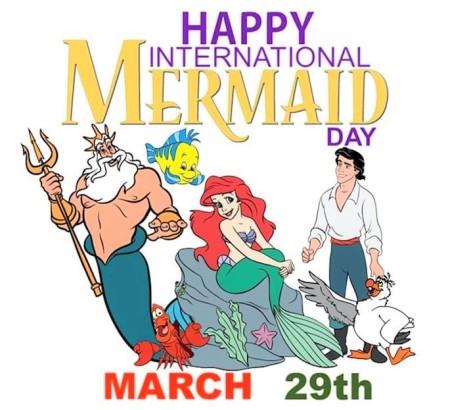 Ariel mermaid day
