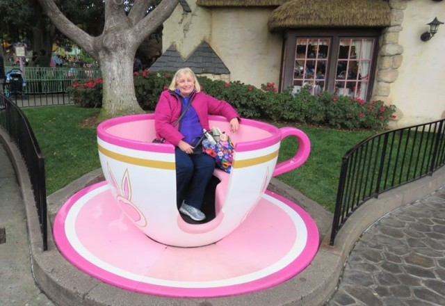 Mom Disneyland tea cups